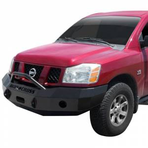 Iron Cross - Iron Cross 22-915-04-MB Winch Front Bumper with Push Bar for Nissan Titan 2004-2015 - Matte Black - Image 2