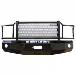 Iron Cross - Iron Cross 24-325-07 Winch Front Bumper with Grille Guard for GMC Sierra 2500/3500 2007-2014 - Gloss Black