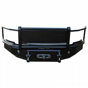 Iron Cross - Iron Cross 24-715-07 Winch Front Bumper with Grille Guard for Toyota Tundra 2007-2013 - Gloss Black