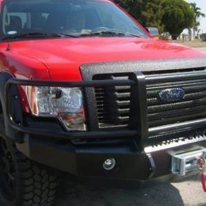 Iron Cross - Iron Cross 24-415-09 Winch Front Bumper with Grille Guard for Ford F150 2009-2014 - Gloss Black - Image 4