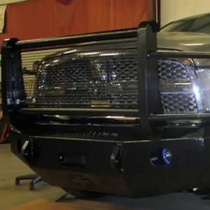 Iron Cross - Iron Cross 24-625-10 Winch Front Bumper with Grille Guard for Dodge Ram 2500/3500 2010-2018 - Gloss Black - Image 3