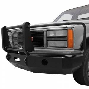 Iron Cross - Iron Cross 24-515-88 Winch Front Bumper with Grille Guard for Chevy Silverado 1500/2500/3500 1988-1998 - Gloss Black - Image 2