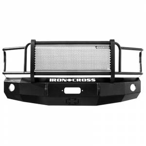 Iron Cross - Iron Cross 24-515-81 Winch Front Bumper with Grille Guard for Chevy Silverado 1500/2500/3500 1981-1987 - Gloss Black