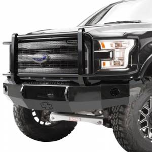 Iron Cross - Iron Cross 24-415-18-MB Winch Front Bumper with Grille Guard for Ford F150 2018-2020 New Body Style - Matte Black - Image 2
