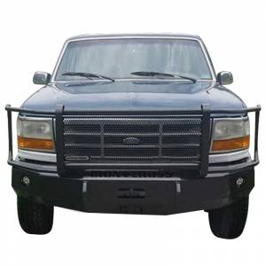 Iron Cross - Iron Cross 24-415-92-MB Winch Front Bumper with Grille Guard for Ford F150/F250/F350 1992-1996 - Matte Black - Image 2