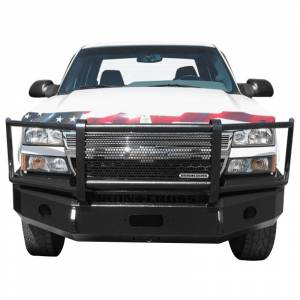 Iron Cross - Iron Cross 24-515-03-MB Winch Front Bumper with Grille Guard for Chevy Silverado 1500 2003-2006 - Matte Black - Image 2