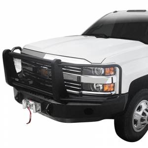 Iron Cross - Iron Cross 24-515-14-MB Winch Front Bumper with Grille Guard for Chevy Silverado 1500 2014-2015 - Matte Black - Image 2