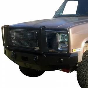 Iron Cross - Iron Cross 24-515-81-MB Winch Front Bumper with Grille Guard for Chevy Silverado 1500/2500/3500 1981-1987 - Matte Black - Image 2