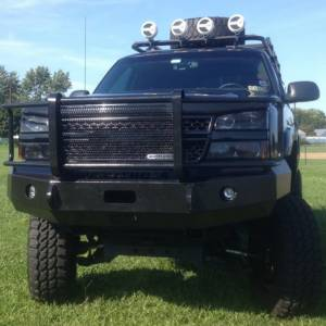 Iron Cross - Iron Cross 24-525-03-MB Winch Front Bumper with Grille Guard for Chevy Silverado 2500/3500 2003-2006 - Matte Black - Image 4