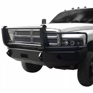 Iron Cross - Iron Cross 24-615-97-MB Winch Front Bumper with Grille Guard for Dodge Ram 1500 1997-2001 - Matte Black - Image 2