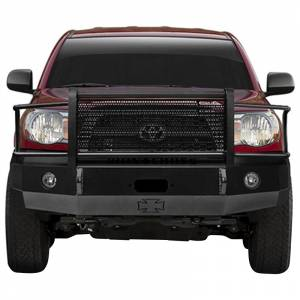 Iron Cross - Iron Cross 24-705-07-MB Winch Front Bumper with Grille Guard for Toyota Tacoma 2005-2011 - Matte Black - Image 2