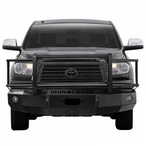 Iron Cross - Iron Cross 24-715-07-MB Winch Front Bumper with Grille Guard for Toyota Tundra 2007-2013 - Matte Black - Image 2