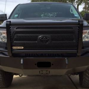 Iron Cross - Iron Cross 24-715-07-MB Winch Front Bumper with Grille Guard for Toyota Tundra 2007-2013 - Matte Black - Image 4