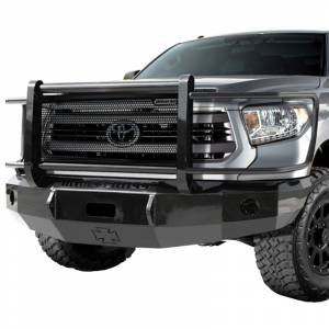 Iron Cross - Iron Cross 24-715-14-MB Winch Front Bumper with Grille Guard for Toyota Tundra 2014-2019 - Matte Black - Image 2