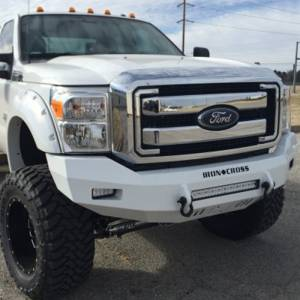 Iron Cross - Iron Cross 40-425-11 Low Profile Front Bumper for Ford F250/F350 2011-2016 - Gloss Black - Image 7
