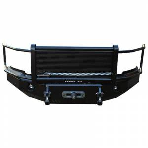 Iron Cross - Iron Cross 24-405-92-MB Winch Front Bumper with Grille Guard for Ford Van E150/E250/E350/E450 1992-2007 - Matte Black - Image 1