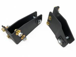 """Suspension Parts - Pivot Brackets - Tuff Country - 1980-1997 Ford F250 4wd (with 4"""" Front lift kit and 4 bolt mounting) - Axle Pivot Drop Brackets (pair) Tuff Country - 20854"""