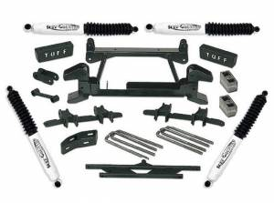 """1988-1997 Chevy Truck K2500/3500 4x4 (8 Lug) - 4"""" Lift Kit by (fits models with cast lower control arms) Tuff Country - 14823"""
