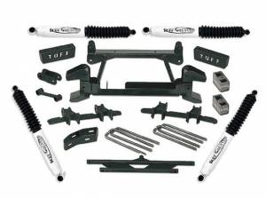 """1988-1997 Chevy Truck K2500/3500 4x4 (8 Lug) - 4"""" Lift Kit by (fits models with stamped lower control arms) Tuff Country - 14824"""