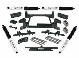 """1992-1998 Chevy Suburban 2500 (8lug) 4x4 - 4"""" Lift Kit by (fits models with cast lower control arms) Tuff Country - 14853"""