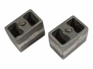 "Suspension Parts - Lift Blocks - Tuff Country - 4"" Cast Iron Lift Blocks (3"" wide, tapered) - pair Tuff Country - 79043"