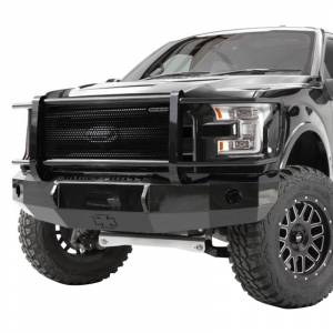Iron Cross - Iron Cross 24-925-16-MB Winch Front Bumper with Grille Guard for Nissan Titan XD 2016-2019 - Matte Black - Image 2