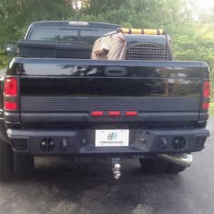 Hammerhead Bumpers - Hammerhead 600-56-0075 Rear Bumper without Sensor Holes for Dodge Ram 1500 1994-2001
