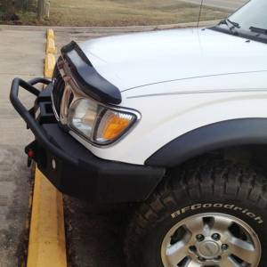 Hammerhead Bumpers - Hammerhead 600-56-0087 X-Series Winch Front Bumper with Pre-Runner Guard and Round Light Holes for Toyota Tacoma 1995-2004