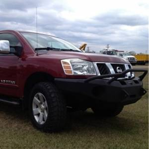 Hammerhead Bumpers - Hammerhead 600-56-0094 X-Series Winch Front Bumper with Pre-Runner Guard and Square Light Holes for Nissan Titan 2004-2015