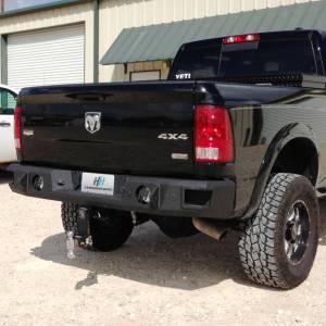 Dodge Ram 1500 - Dodge RAM 1500 2013-2018 - Hammerhead Bumpers - Hammerhead 600-56-0338 Rear Bumper with Sensor Holes for Dodge Ram 1500 2009-2018