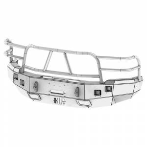 Hammerhead Bumpers - Hammerhead 600-56-0054 X-Series Winch Front Bumper with Full Brush Guard and Square Light Holes for Chevy Silverado 1500 2007-2013