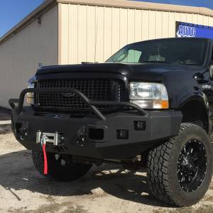 Hammerhead Bumpers - Hammerhead 600-56-0060 X-Series Winch Front Bumper with Pre-Runner Guard and Square Light Holes for Ford F250/F350/F450/F550/Excursion 2005-2007