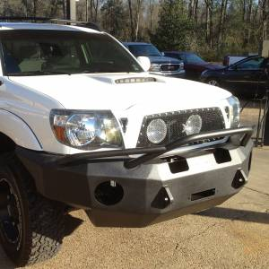 Hammerhead Bumpers - Hammerhead 600-56-0065 X-Series Winch Front Bumper with Pre-Runner Guard and Round Light Holes for Toyota Tacoma 2005-2011