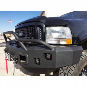 Hammerhead Bumpers - Hammerhead 600-56-0089 X-Series Winch Front Bumper with Pre-Runner Guard and Square Light Holes for Ford F250/F350/F450/F550 1999-2004