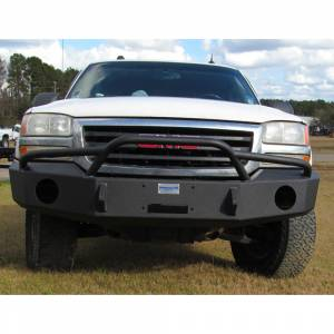Hammerhead Bumpers - Hammerhead 600-56-0093 X-Series Winch Front Bumper with Pre-Runner Guard and Round Light Holes for GMC Sierra 1500 2003-2006