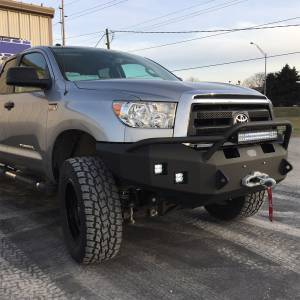 Toyota Tundra - Toyota Tundra 2007-2013 - Hammerhead Bumpers - Hammerhead 600-56-0098 X-Series Winch Front Bumper with Pre-Runner Guard and Square Light Holes for Toyota Tundra 2007-2013