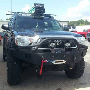 Hammerhead Bumpers - Hammerhead 600-56-0102 X-Series Winch Front Bumper with Pre-Runner Guard and Square Light Holes for Toyota Tacoma 2012-2015
