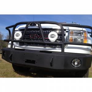 Hammerhead Bumpers - Hammerhead 600-56-0105 X-Series Winch Front Bumper with Full Brush Guard and Square Light Holes for GMC Sierra 2500/3500 2011-2014 - Image 4
