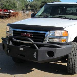 Hammerhead Bumpers - Hammerhead 600-56-0115 Winch Front Bumper with Pre-Runner Guard and Square Light Holes for GMC Sierra 2500 HD/3500 HD 2003-2006 - Image 1