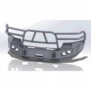 Hammerhead Bumpers - Hammerhead 600-56-0118 X-Series Winch Front Bumper with Full Brush Guard and Square Light Holes for GMC Sierra 2500/3500 2007-2010