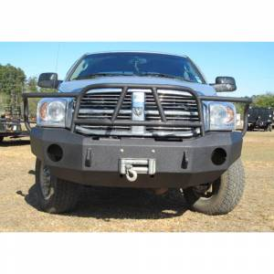 Hammerhead Bumpers - Hammerhead 600-56-0123 X-Series Winch Front Bumper with Full Brush Guard and Square Light Holes for Dodge Ram 2500/3500/4500/5500 2006-2009