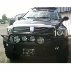 Hammerhead Bumpers - Hammerhead 600-56-0125 Winch Front Bumper with Pre-Runner Guard and Square Light Holes for Dodge Ram 2500/3500/4500/5500 2006-2009