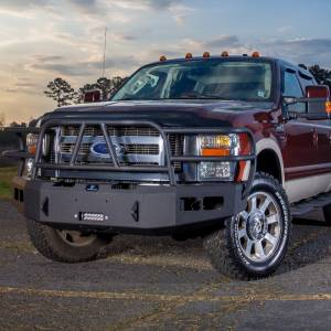 Ford F250/F350 Super Duty - Ford Superduty 2008-2010 - Hammerhead Bumpers - Hammerhead 600-56-0255 X-Series Winch Front Bumper with Full Brush Guard and Square Light Holes for Ford F250/F350/F450/F550 2008-2010