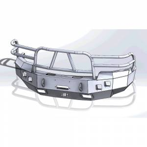 Hammerhead 600-56-0196 X-Series Winch Front Bumper with Full Brush Guard and Square Light Holes for GMC Sierra 1500 2007-2013