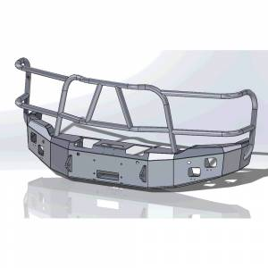 Hammerhead Bumpers - Hammerhead 600-56-0220 X-Series Winch Front Bumper with Full Brush Guard and Sensor Holes for GMC Sierra 1500 2014-2015