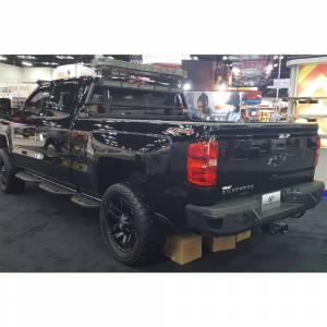 GMC Sierra 2500/3500 - GMC Sierra 2500/3500HD 2015-2019 - Hammerhead Bumpers - Hammerhead 600-56-0272 Rear Bumper with Sensor Holes for Chevy Silverado 2500HD/3500 2015-2019