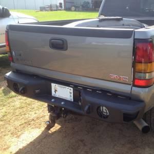 Hammerhead Bumpers - Hammerhead 600-56-0106 Rear Bumper without Sensor Holes for Chevy Silverado/GMC Sierra 2500/3500 2001-2006