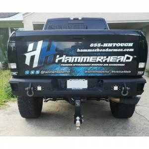Truck Bumpers - Hammerhead - Hammerhead Bumpers - Hammerhead 600-56-0478 Flush Mount Rear Bumper with Sensor Holes for Dodge Ram 1500/2500/3500 2009-2018