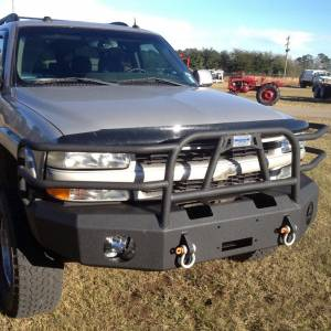 Hammerhead Bumpers - Hammerhead 600-56-0110T X-Series Winch Front Bumper with Full Brush Guard and Square Light Holes for Chevy Tahoe/Suburban 2001-2006 - Image 3