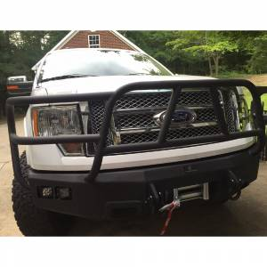 Truck Bumpers - Hammerhead - Hammerhead Bumpers - Hammerhead 600-56-0343 X-Series Winch Front Bumper with Full Brush Guard and Square Light Holes for Ford F150 2009-2014